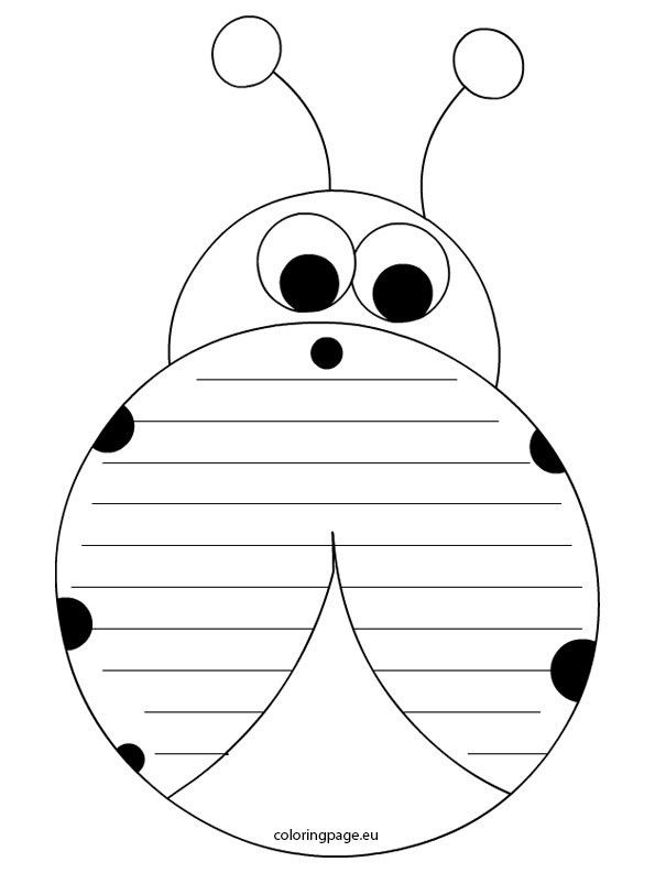 writing-paper-ladybug | Templates | Pinterest | Writing paper and ...