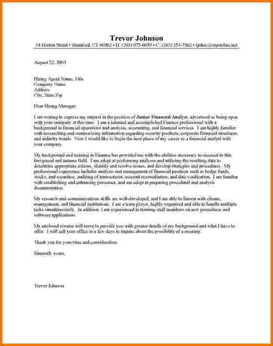 10+ financial analyst cover letter examples | Financial Statement Form