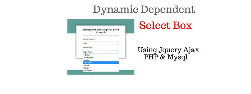 Dynamic Dependent Select Box Using Jquery Ajax PHP & Mysql ...