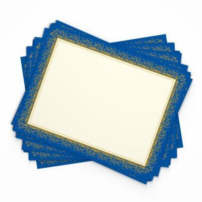 Gartner Studios Foil Certificates, Blue & Silver | Staples®