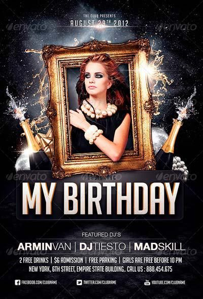 Best Birthday Flyer Templates No.1 - Download PSD Flyer
