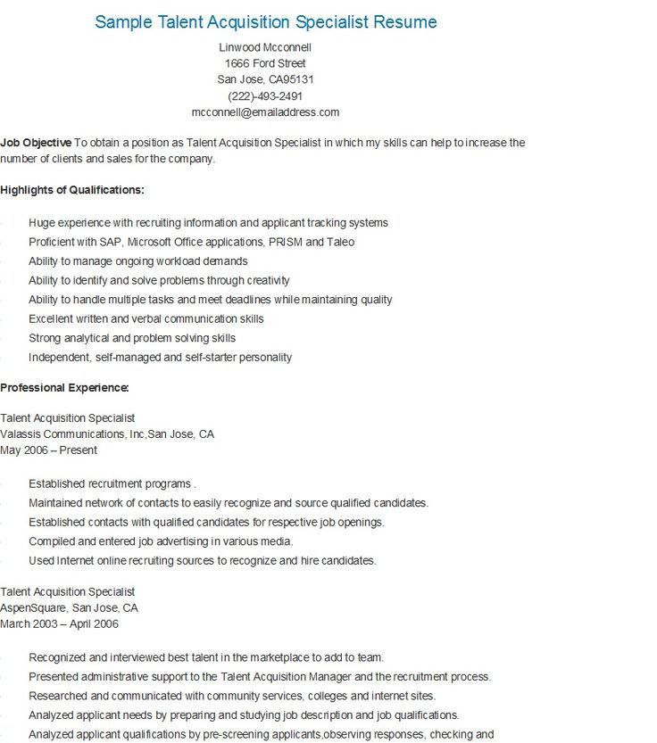 site acquisition specialist sample resume brand consultant sample ...