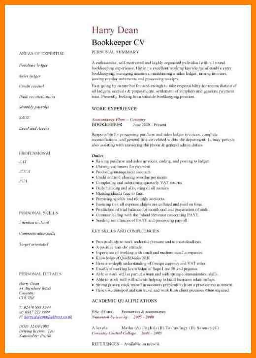 Sample Resume Bookkeeper. bookkeeping resume example accounting ...