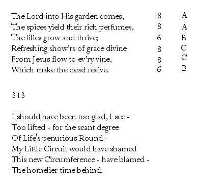 Emily Dickinson: Iambic Meter & Rhyme « PoemShape