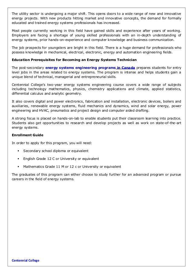 Energy systems technicians job description and educational requiremen…