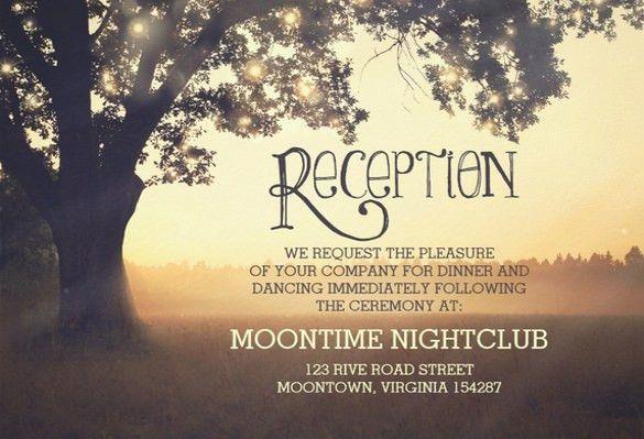 17+ Wedding Reception Invitation Templates - Free PSD, JPG, Word ...