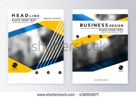 Layout Design Template Annual Report Brochure Stock Vector ...