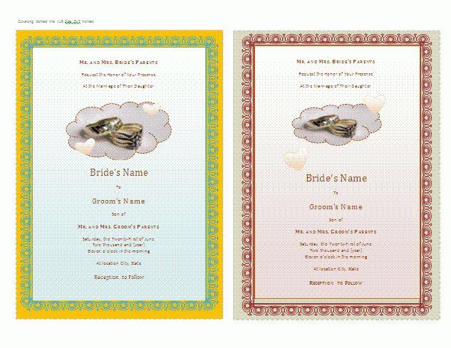 Sample Of Wedding Invitation Letter - iidaemilia.Com