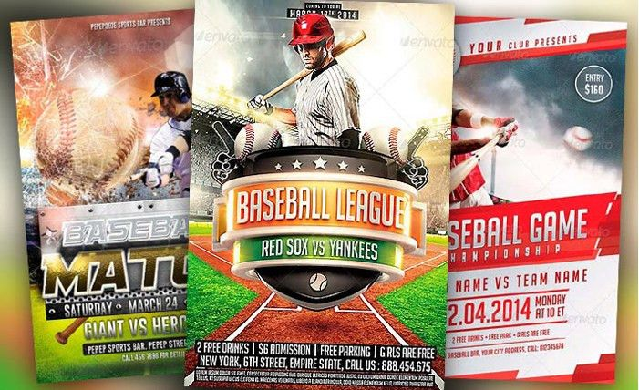 customizable Baseball Flyer Template PSD download - Excel Templates