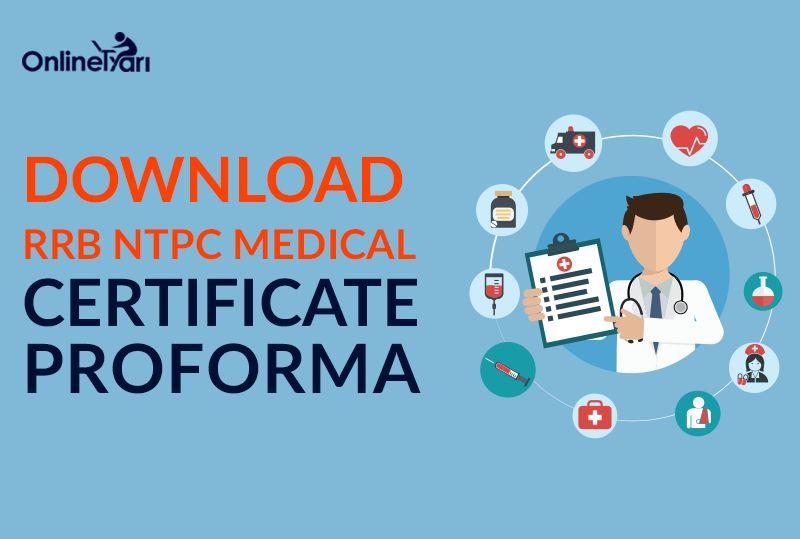 Download RRB NTPC Medical Certificate Proforma (ASM/ TA Post)