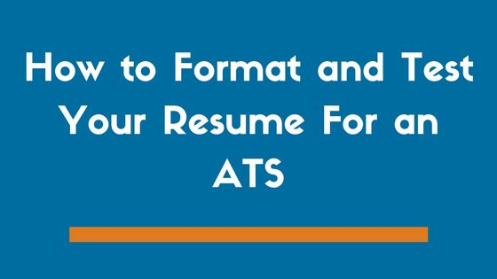 How to Format and Test Your Resume For an ATS (Example) - ZipJob
