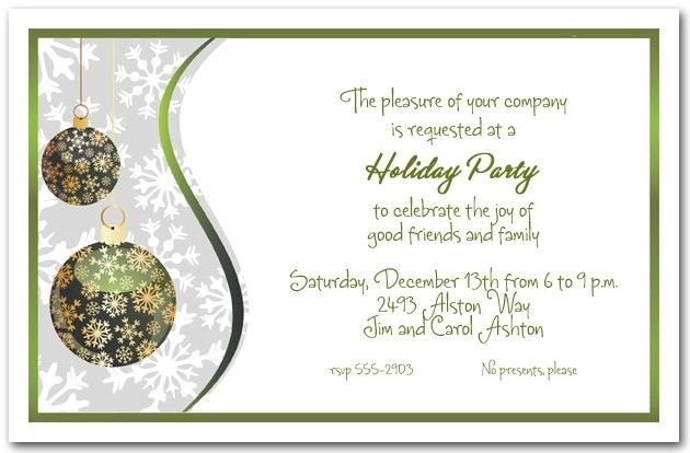Company Christmas Party Invitations | christmanista.com