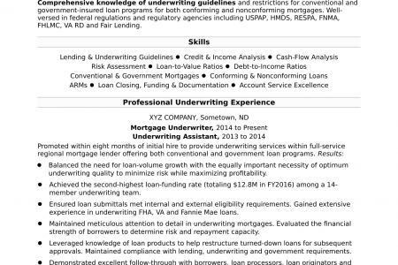 mortgage underwriter resume resume mortgage underwriter resume