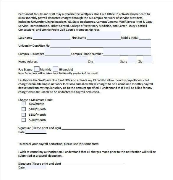 Payroll Authorization Form. Rate Authorization Form Presentation ...