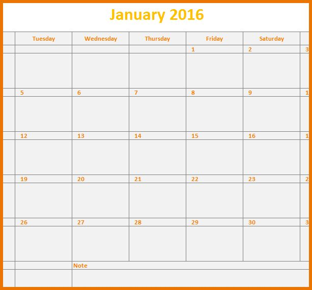 Monthly Calendar Template Excel.2016 Monthly Calendar Template.png ...