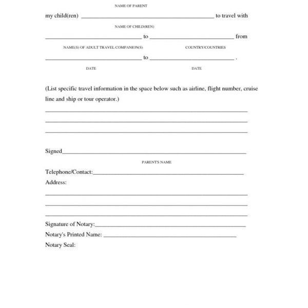 Sample Parent Release Form 8 Examples In Word Pdf 67 [Template ...