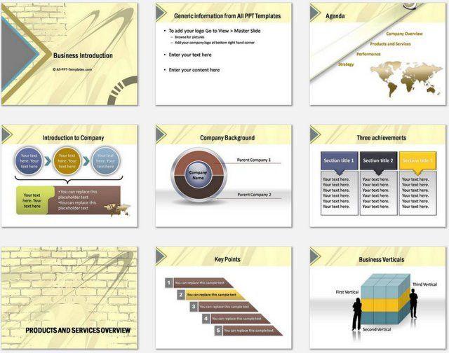 presentation template for company profile presentation template ...