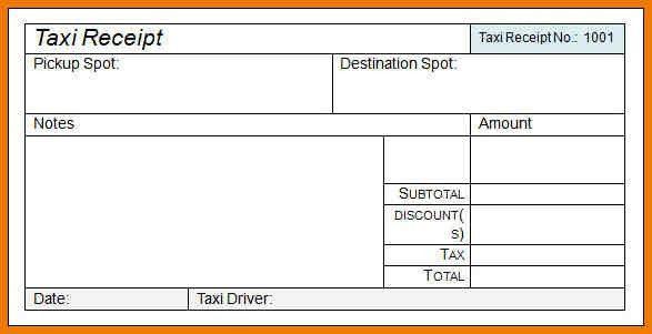 5+ blank taxi receipt | postal-carrier