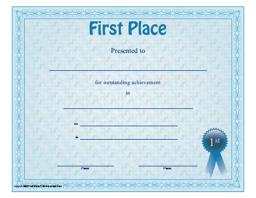 4 Best Images of Winner Certificate Template - First Place Winner ...