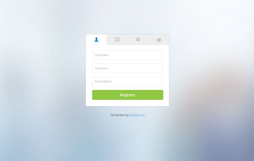 Clean Classy Registration Form by w3layouts