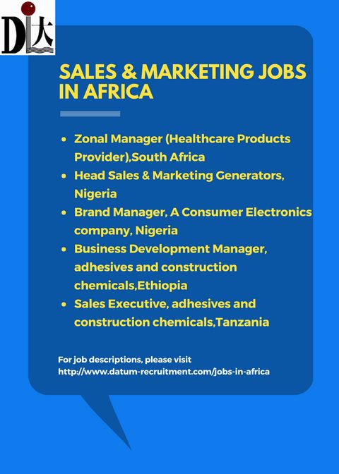 Sales And Marketing Jobs In Africa | datum-recruitment.com