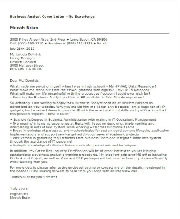 8+ Business Cover Letter Examples | Free & Premium Templates