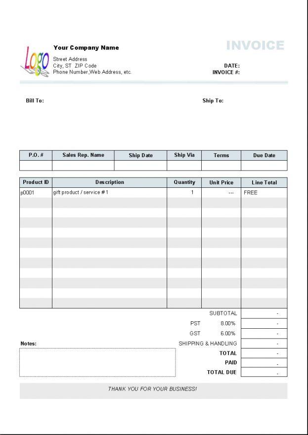 blank invoice template microsoft word templates : Selimtd