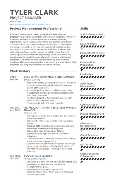 Real Estate Resume samples - VisualCV resume samples database