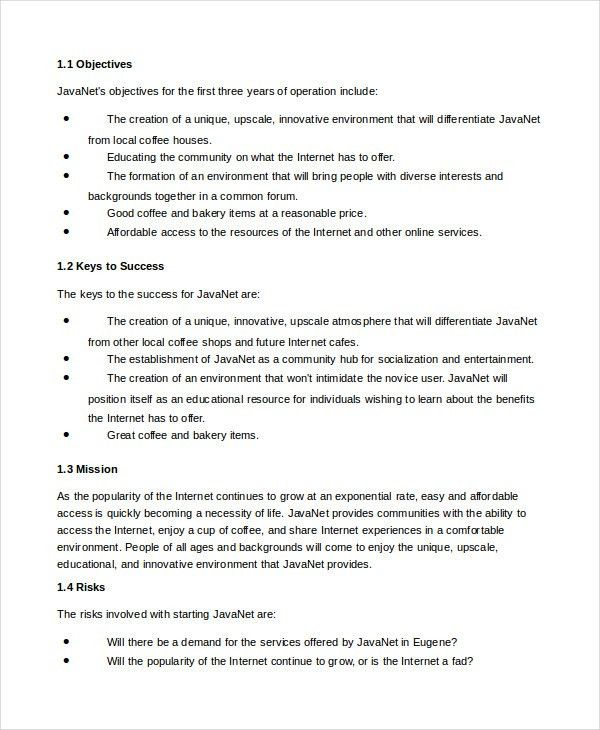 Business Plan Template - 14+ Free Word, PDF Documents Download ...