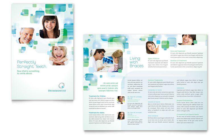 Orthodontist Brochure Template - Word & Publisher