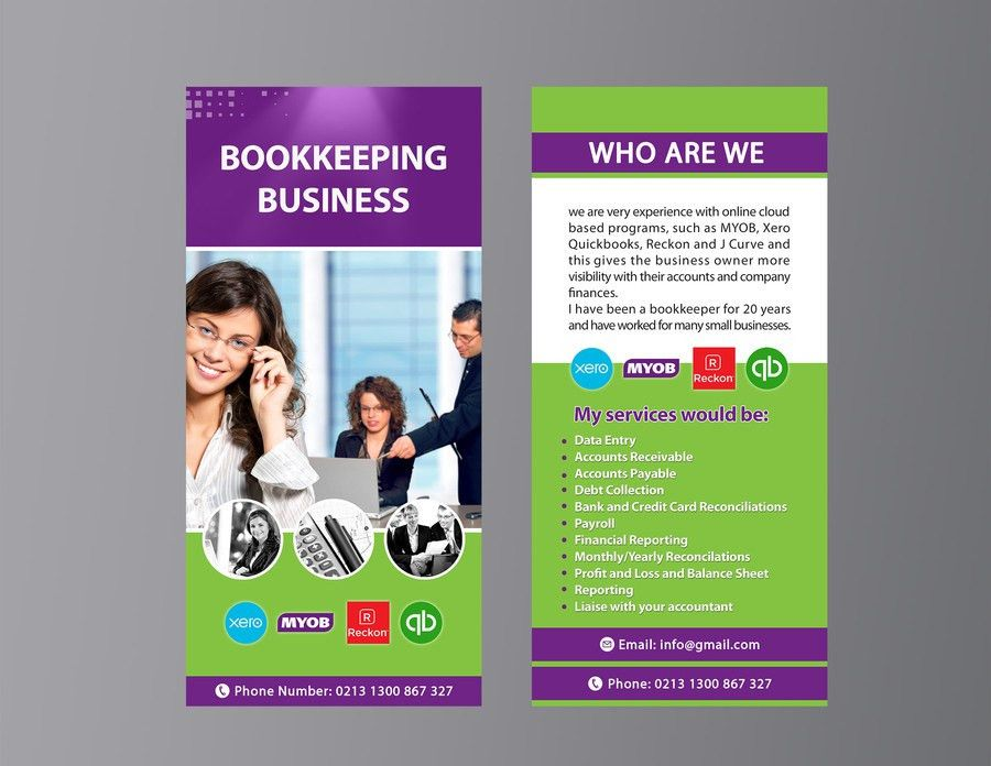 Entry #32 by ramonatafavoghi for Design a Flyer for Bookkeeping ...