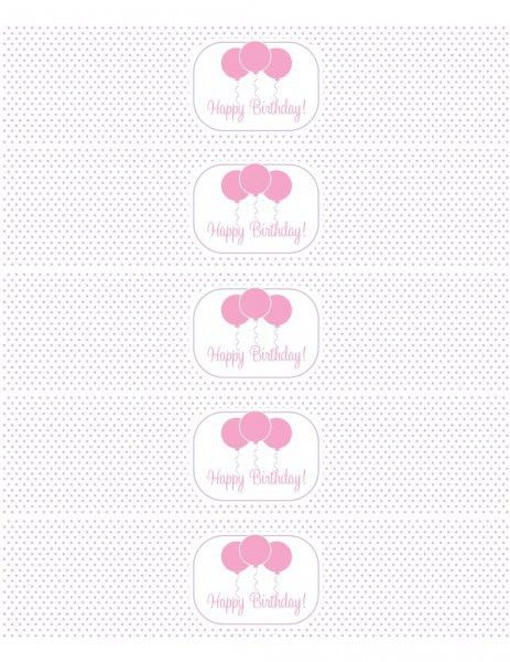 FREE Pink and Purple (Girl) Birthday Printables from Green Apple ...