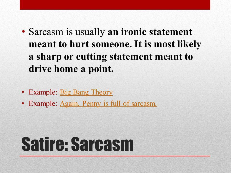 Satire Irony - Parody - Sarcasm +Definitions +Examples. - ppt download