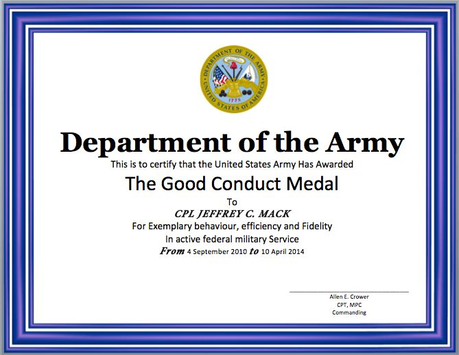 Good Conduct Certificate Template | Format & Template