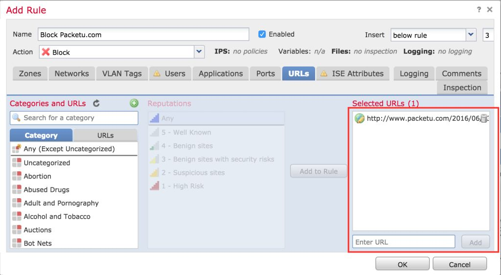 Manual URL Filtering in Firepower - The Packet University