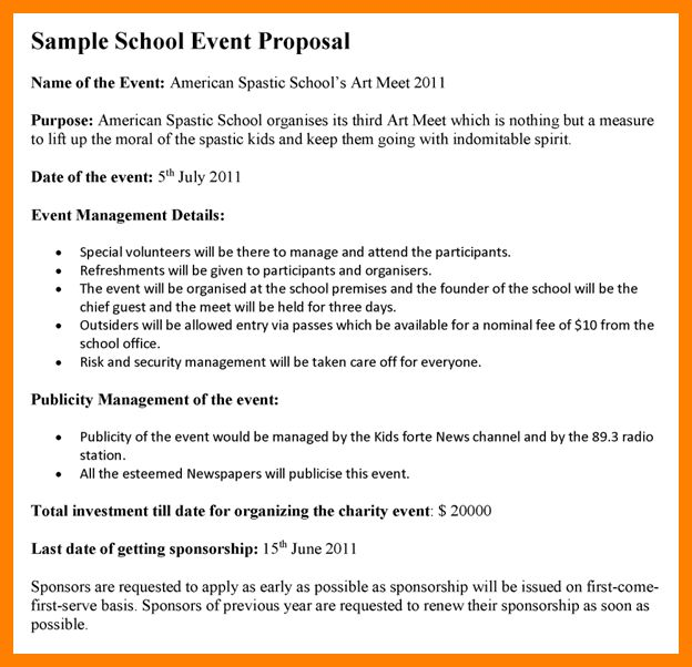 Sample Proposal For Sponsorship For An Event Sample Sponsorship – Sample Proposal for Sponsorship for an Event