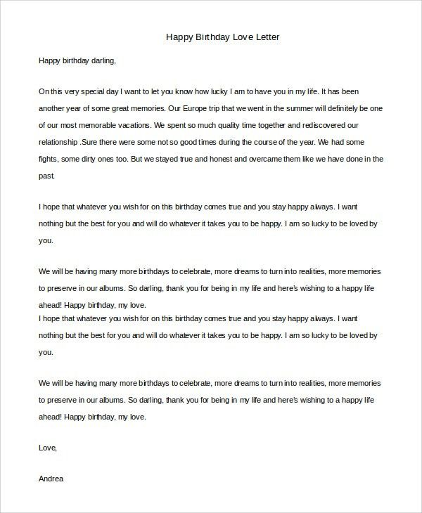 Sample Love Letter - 8+ Examples in PDF, Word