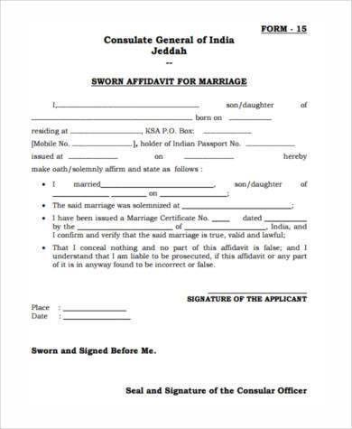 7+ Sworn Affidavit Form Samples - Free Sample, Example Format Download