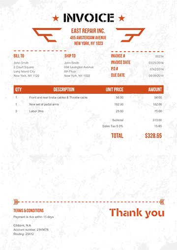 Invoice Template Word as PDF - 100+ Templates to Download or Send