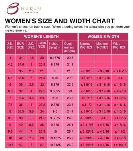 Burju Shoes Size Charts