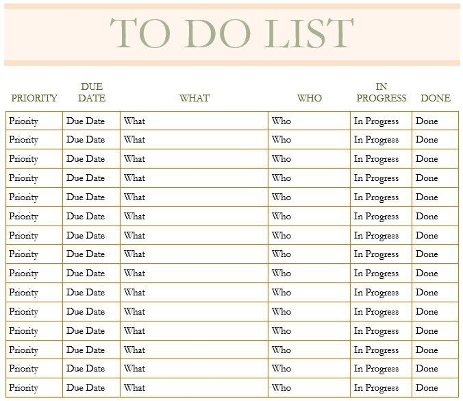Captivating 10 Free Sample Monthly To Do List Templates U2013 Printable Samples