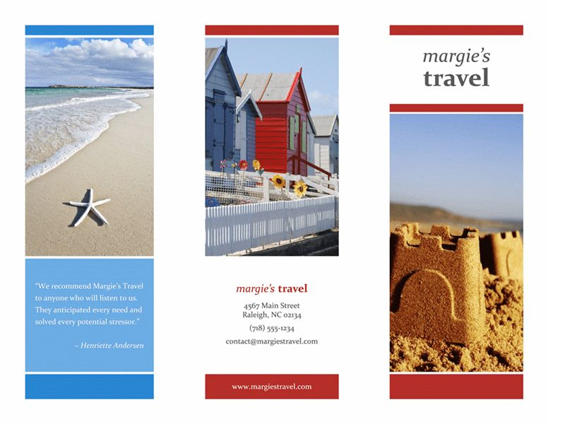 Travel brochure - Office Templates