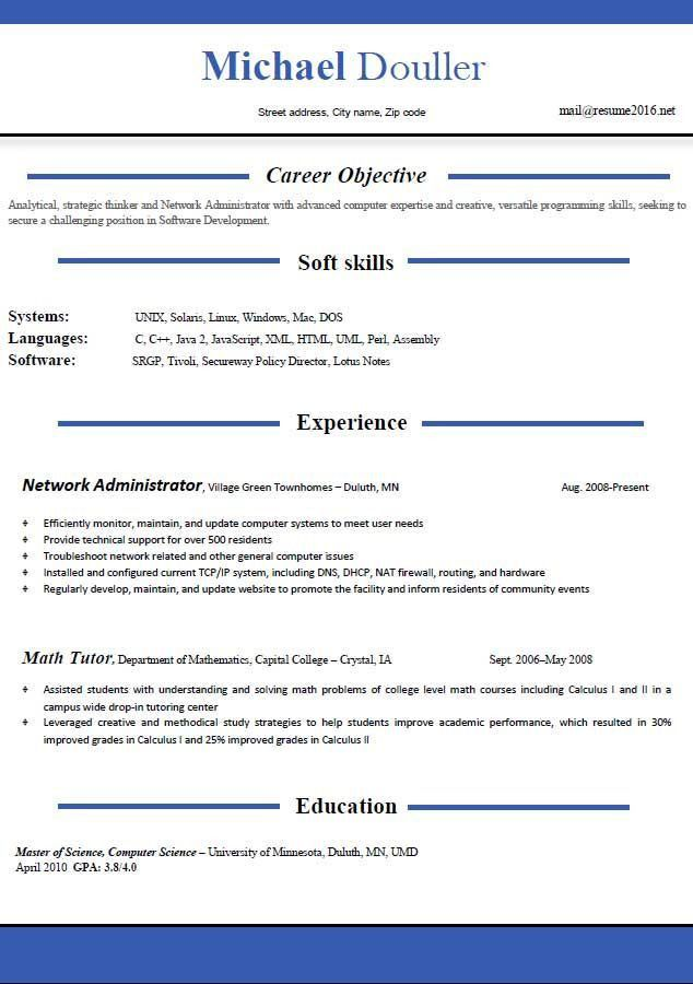 The 25+ best Resume format free download ideas on Pinterest ...