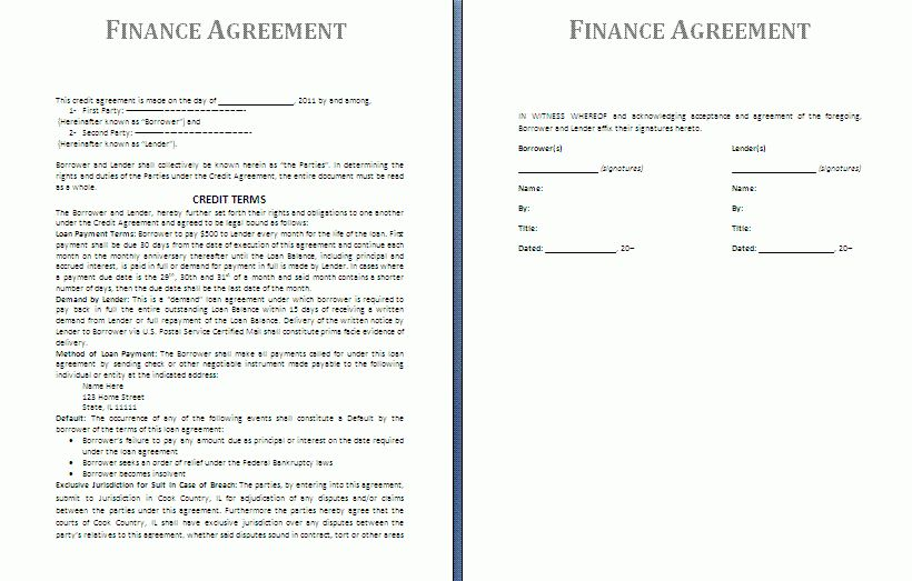 Free Download Purchase Agreement Template Sample with Price and ...