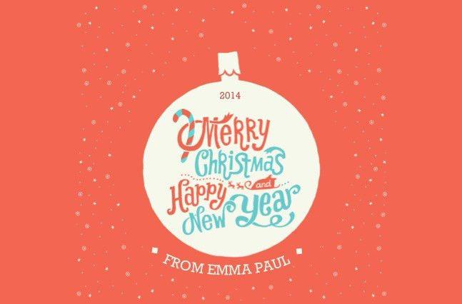 Free Corporate Christmas Card - DIY Template - Freelance Web ...