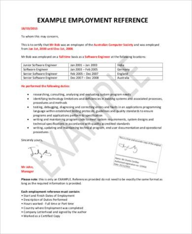 Sample of Reference Letters - 9+ Free Documents in PDF