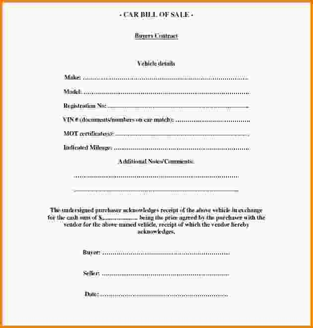 Car Bill Of Sale Template.used Car Bill Of Sale Template.jpg ...