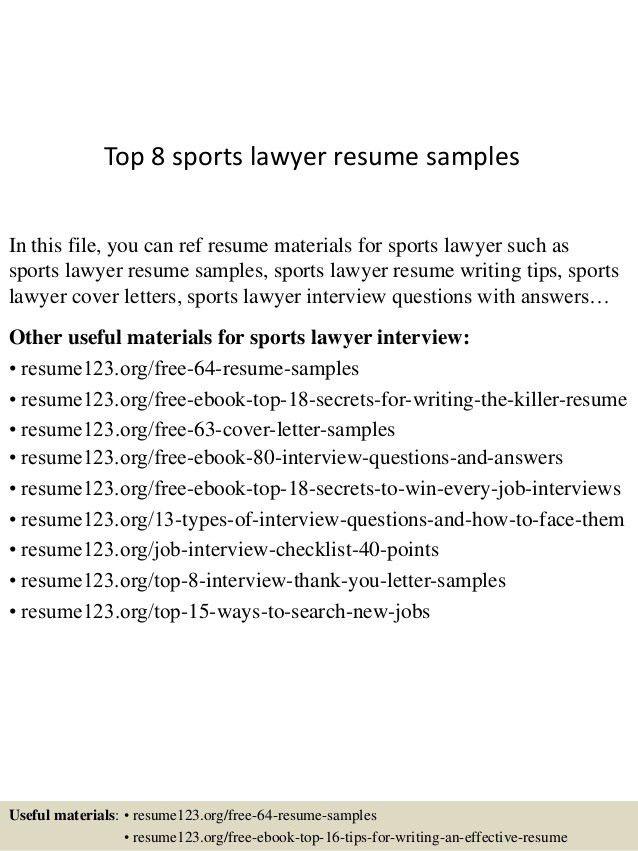 attorney resume templates