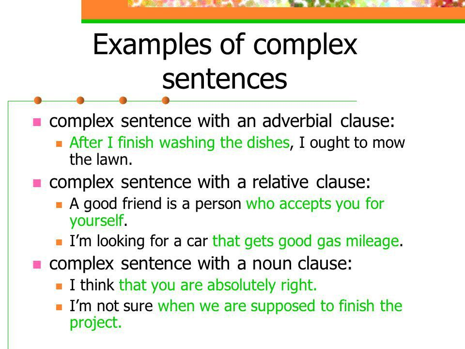 Making Complex Sentences - ppt video online download