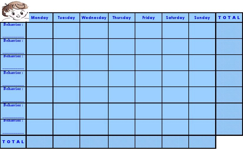 Free Printable Blank Weight Loss Chart Template Download